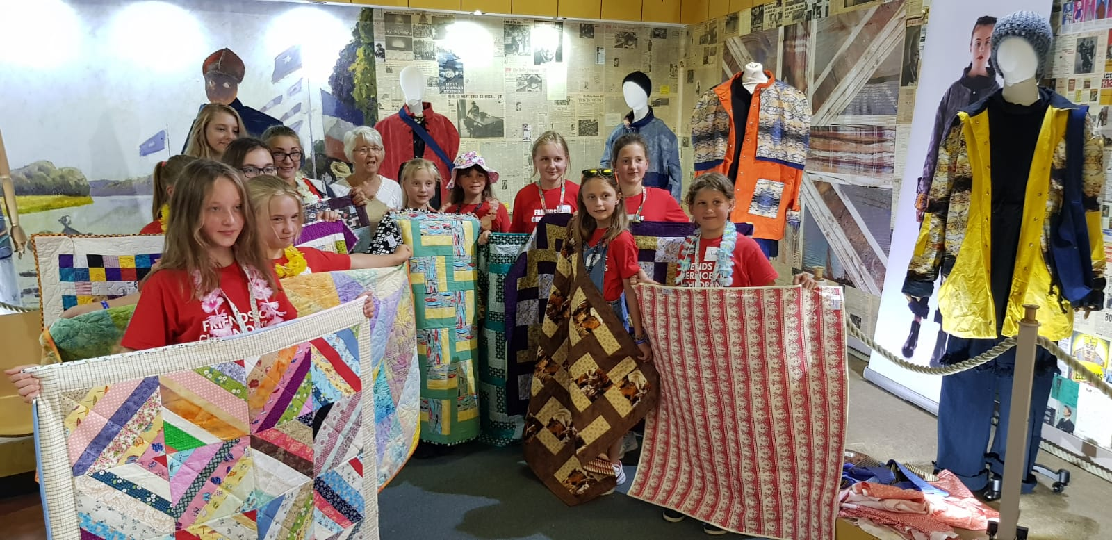 Project Linus quilts for Chernobyl girls