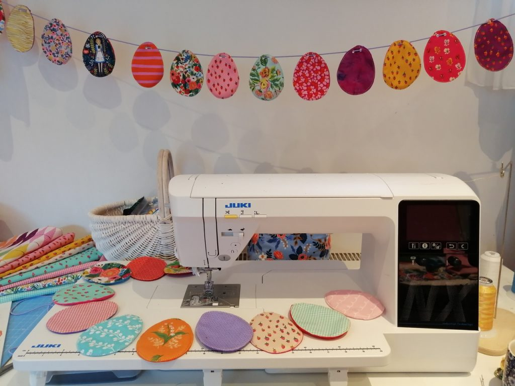 Easter Egg Bunting with the Juki NX7