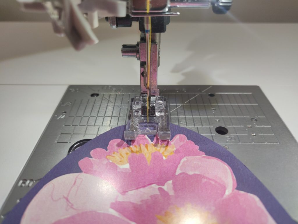getting ready to stitch