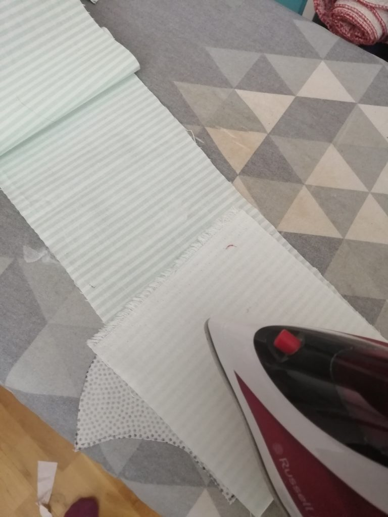 ironing the interfacing