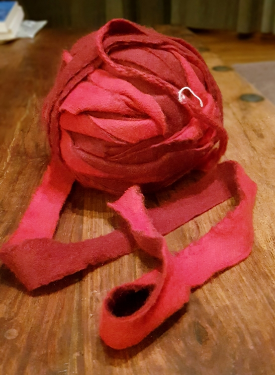 Slitter tape for Jen's woven bomber jacket