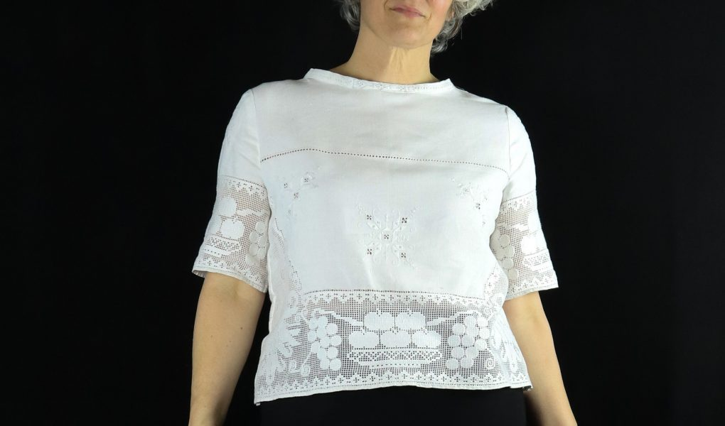 Jen Hogg with a recycled top