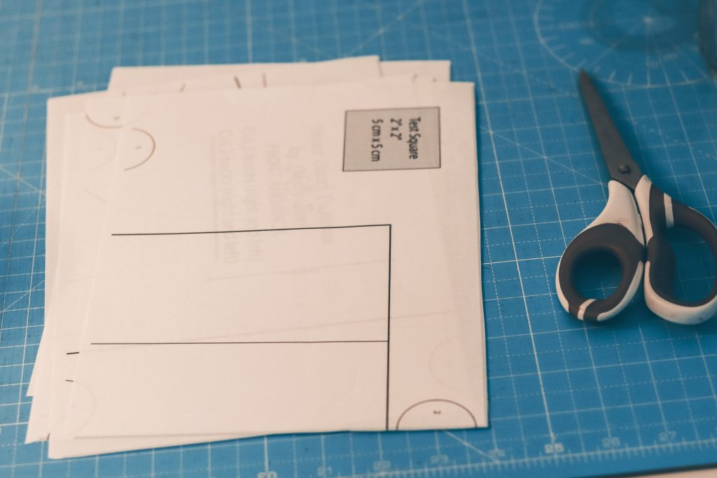 the pattern for making PJ shorts by Melly Sews