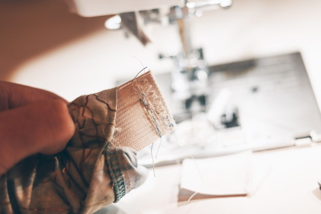 creating a waistband when making PJ shorts