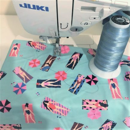 swimsuit fabric on the Juki DX7