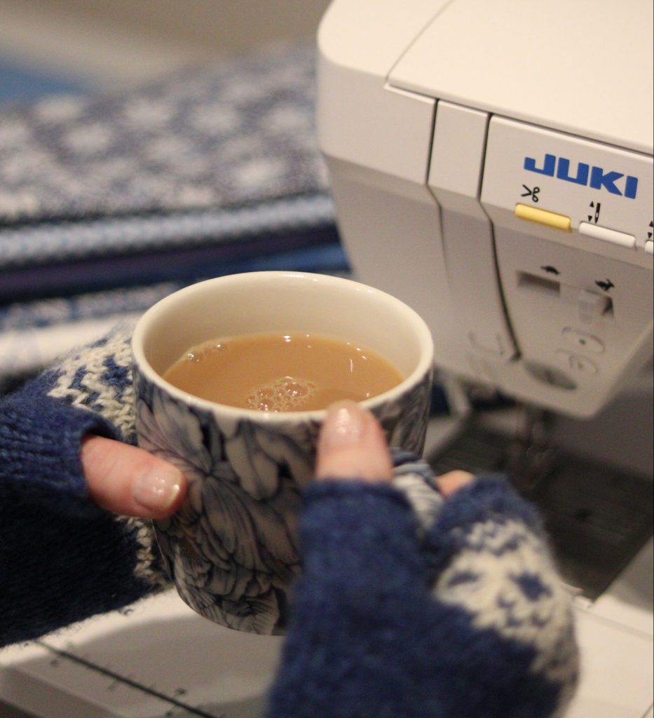 Automatic thread trimming button on the Juki NX7