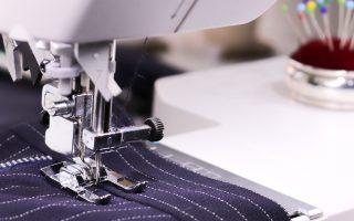 pinstripe wool trousers on the Juki NX7