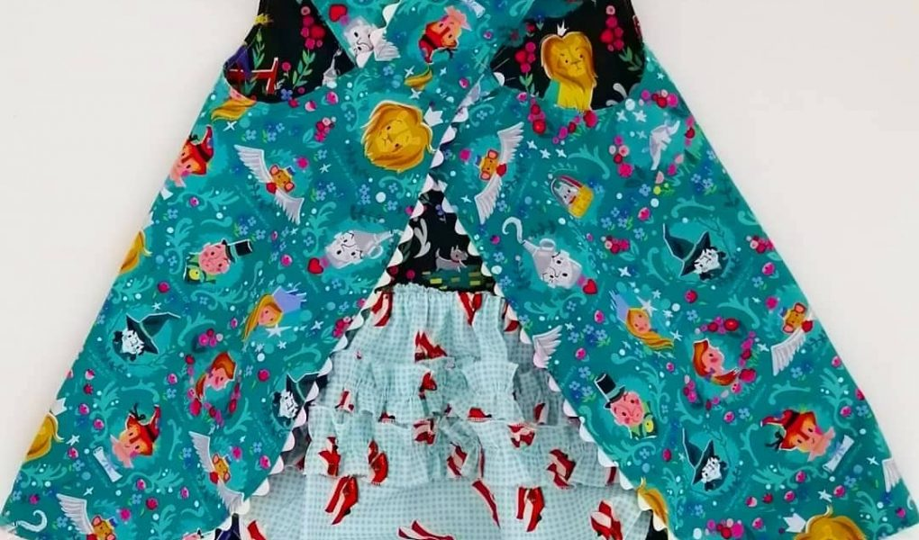 toddler crossover pinafore dress