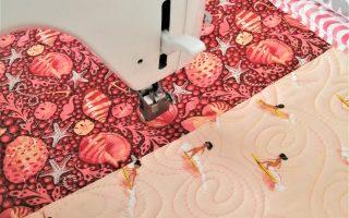 Making Moana waves with the Juki TL QVP Mini straight stitch